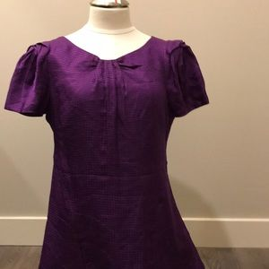 NWT Banana republic sz 12 purple embroidered dress